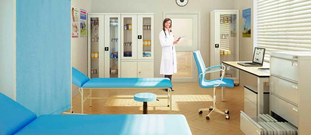 Все для медицинских кабинетов на предприятии