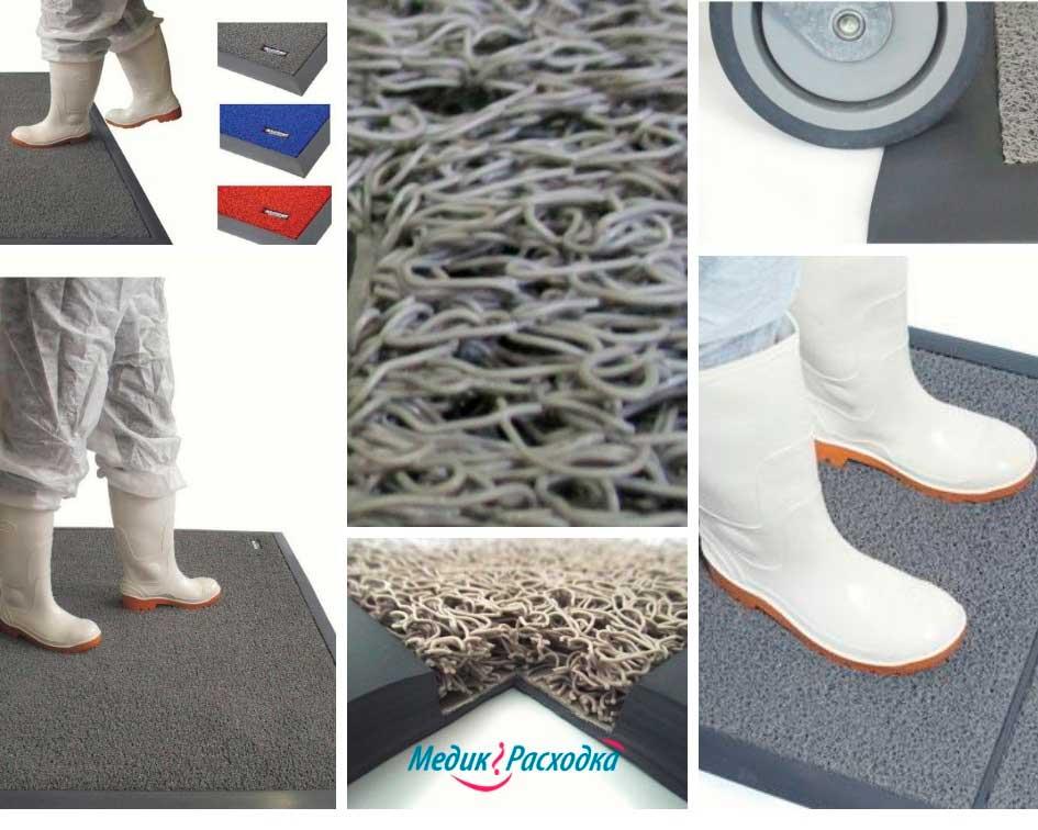 Коврики для дезинфекции обуви показана обработка сапог и колесиков тележки