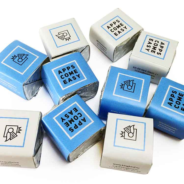Шоколад в кубиках с логотипом